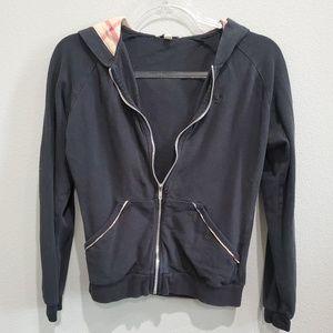 Burberry check hoodie zip sweater
